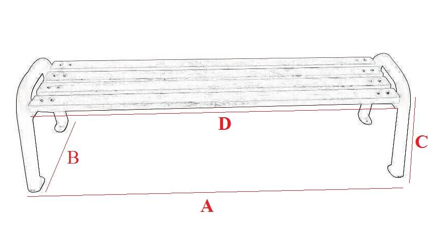 Ławka parkowa srbo-1 wymiary