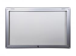 Szklana gablota ogłoszeniowa zewnętrzna otwierana do góry