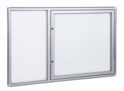 Szklana gablota informacyjna zewnętrzna częściowo otwierana