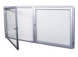 Dwuskrzydłowa szklana gablota informacyjna zewnętrzna