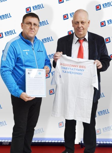Pan Roman Kroll oraz Wiesław Nowicki (po lewej)